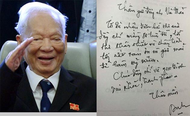 Đại tướng Lê Đức Anh và bức thư khiến ông Vũ Mão rất xúc động