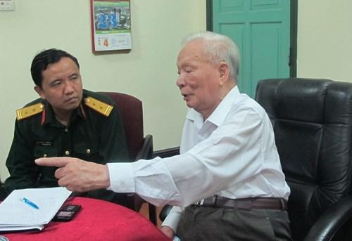 Đại tướng Lê Đức Anh trong lần trả lời phỏng vấn Báo Quân đội nhân dân, tháng 3-2015. Ảnh: SONG PHÚC