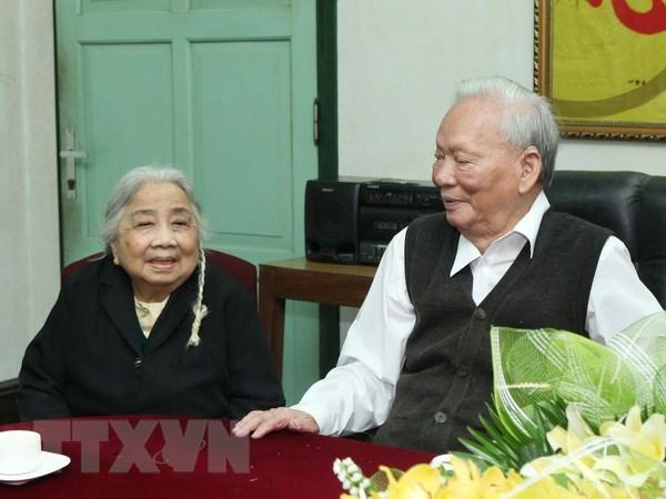 Nguyên Chủ tịch nước, Đại tướng Lê Đức Anh và phunhân -Ảnh tư liệu TTXVN
