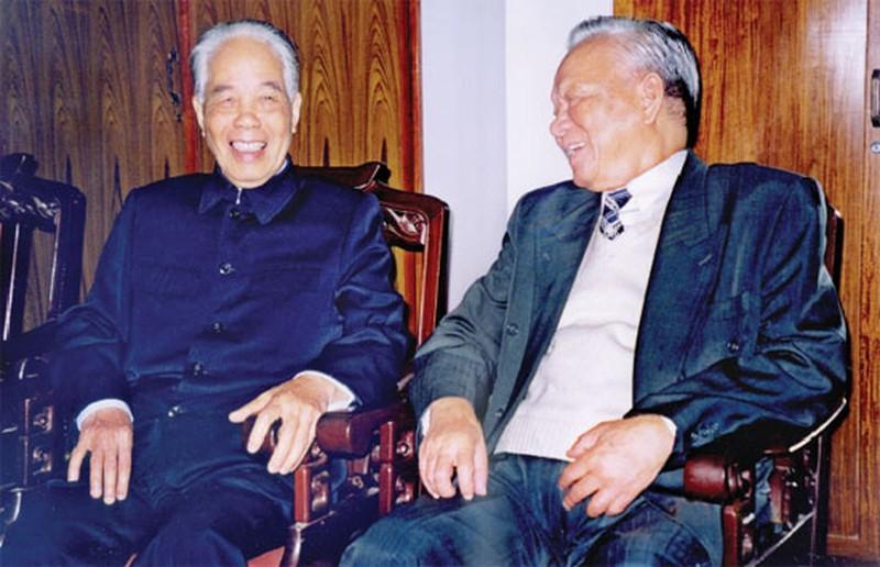 Nguyên Tổng Bí thư Đỗ Mười và nguyên Chủ tịch nước Lê Đức Anh.